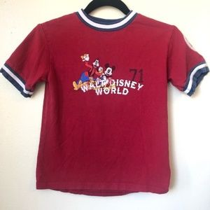 5 for $25 Walt Disney World Red T-Shirt Mickey Mouse Goofy Donald Size Small